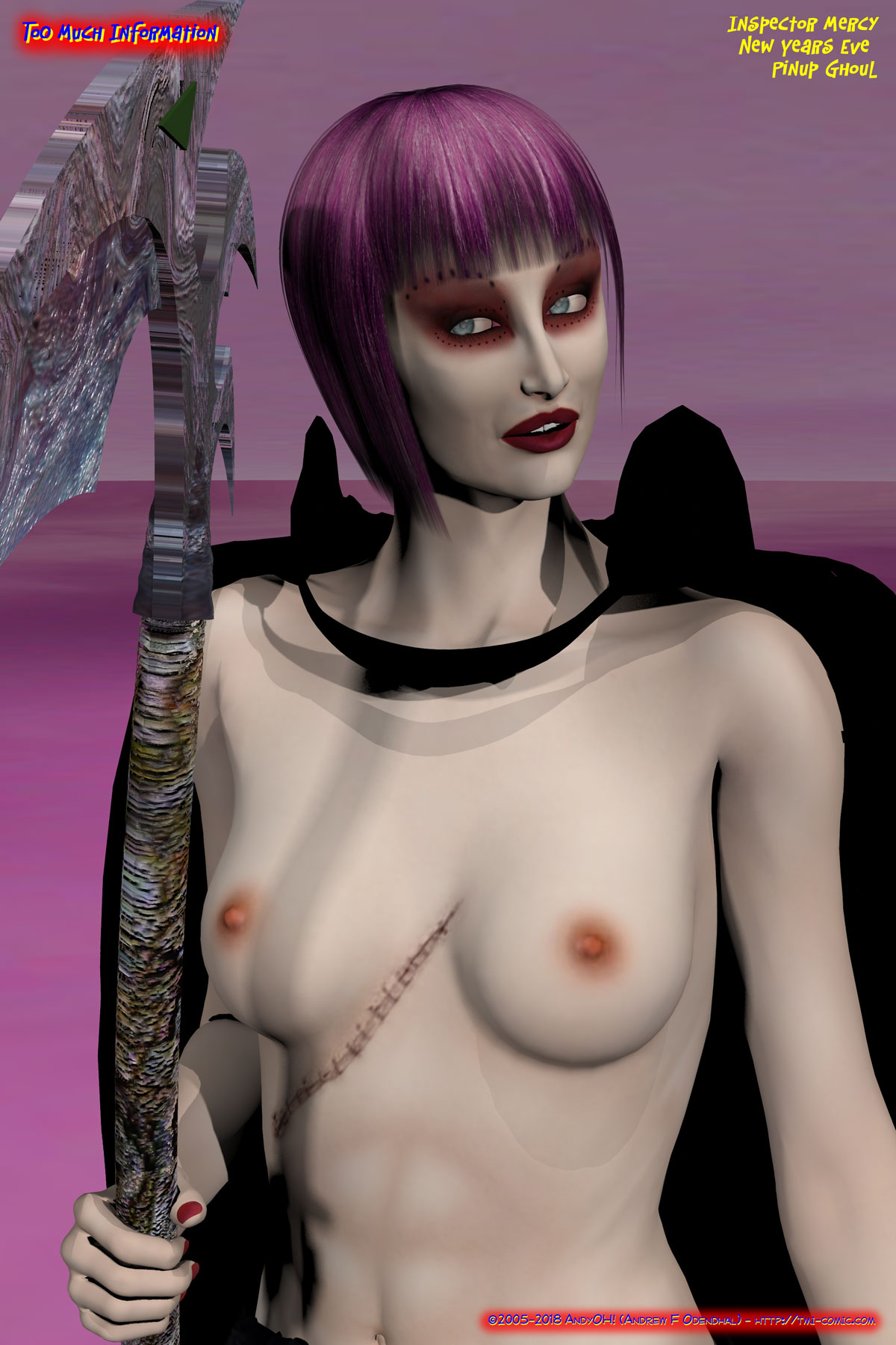 Inspector_Mercy-New_Years_Eve_Pinup_Ghoul-Topless-incentive
